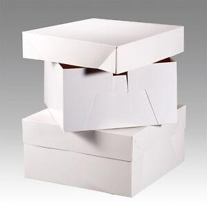 White Cake Boxes, Cakes box Wedding birthday 8,9,10,11,12,13,14,16,18 Inch