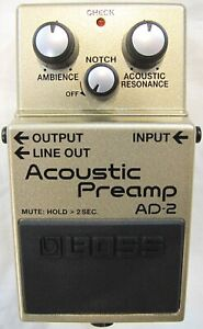 Used Boss AD-2 Acoustic Preamp Guitar Effects Pedal