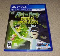 PS4 Rick And Morty Virtual Rick-ality PlayStation VR Video Game
