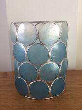 Vintage Capiz Shell Blue Pendant Light Shade