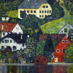 Gustav Klimt Full Drill Diamond Painting Kit Houses at Unterach on Attersee 1916