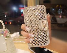 Elegant Bling Crystal White Leather Case For Samsung Galaxy Mega 5.8 i9150 i9152