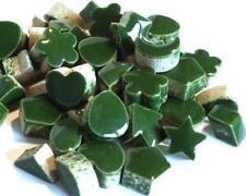Mini Céramique mosaïque forme TUILES - Pesto Vert