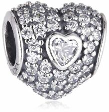 AUTHENTIC Pandora Charm In My Heart, Cz - 9041