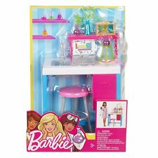 Barbie Science Lab Playset Include Sink, Toy Laptop & Beaker New Free Shipping