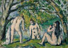 Three Bathers by Paul Cézanne 60cm x 48cm Art Paper Print