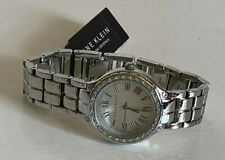 NEW! ANNE KLEIN SWAROVSKI CRYSTALS SILVER BRACELET WATCH AK/2095SVSV $95 SALE