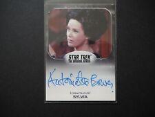 Star Trek Trading Cards Original Series Antoinette Bower as Sylvia Autograph