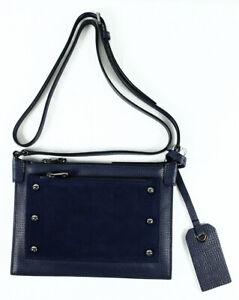Marc Jacobs C Lock Suede Crossbody Bag in India Ink