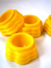 4 Easter egg cups holder pretty yellow spring flowers petal Easter crafts