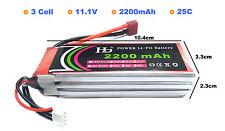 High Quality LiPo 3S 2200mAh 25C Battery 11.1V for Quadcopter Plane Mulirotor
