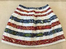 MIMI AND MAGGIE RED WHITE AND BLUE STRIPED SKIRT GIRLS JUNIORS SIZE M
