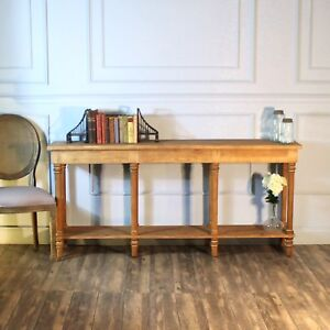 Pine Buffet Side Table or Behind Couch Console Aged Wood The Barnby