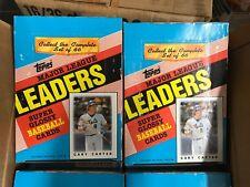 2 BOX LOT 1986 TOPPS MINI BASEBALL CARDS LEAGUE LEADERS 36 PACKS PER GARY CARTER
