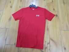 Mens Under Armour HeatGear Ss Loose Fit Tee Shirt Red Sz L Large