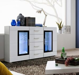 SB Killeen - white contemporary dresser / bedroom white chest of drawers