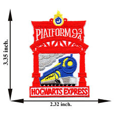 Red Harry Potter Hogwarts Express Train Platform 9 3/4 Applique Iron on Patch