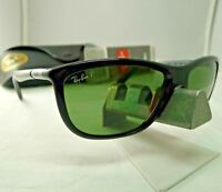 RAY-BAN RB8351 6219/9A BLACK GREY GREEN G-15 POLARIZED SUNGLASSES 60MM NEW 9.9