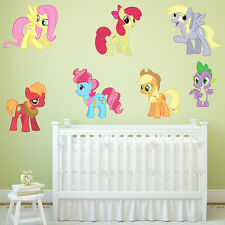 MY LITTLE PONY GIRLS BOYS KIDS BEDROOM VINYL DECAL WALL ART STICKER WINDOW  GIFT