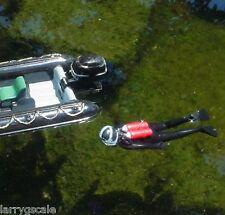Scuba Diver Swimming Figure 1/24 Scale G Scale Diorama Accessory Item
