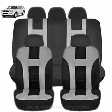 NEW GRAY & BLACK POLY AIRBAG READY SEAT COVERS COMBO 9PC SET FOR SUVS 2128