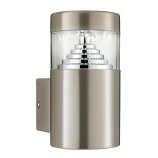 Searchlight 7508 LED Stainless Steel Outdoor Wall Light & Square Backplate