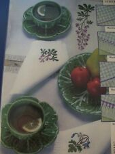 Lupine Table Linen Flower Design OOP Magazine Cross Stitch Pattern (S)