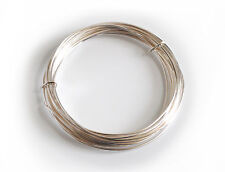 1x Silver Plated Copper Cored Wire .6mm x 10m. Hobby, Jewellery, Modelling X1107
