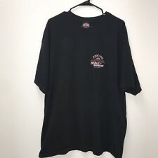 Harley T-shirt Chicago Gangster Logo 2xl 2003 Black Armpit To Armpit 25 Inches