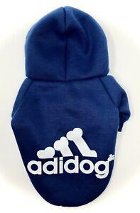 Adidog Dog Hoodie Puppy Hoodies Coat Sweatshirt Sports Small Blue Super Cute!!!