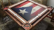 Puerto Rican Flag and Bacardi Theme Domino Table by Domino Tables by Art