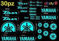 MAXI KIT 30 PZ DI ADESIVI YAMAHA OLD  TMAX  T- MAX 500 - 530 COLORE CELESTE