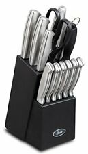 Oster Baldwyn Cutlery Block Set Knife 14 pc Stainless Steel Kitchen Knives NEW