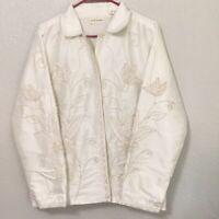 Marsh Landing White Jacket Size: Medium