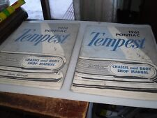 SET OF TWO 1961 Pontiac/Tempest Chassis and Body Shop Manual -Original Very Nice