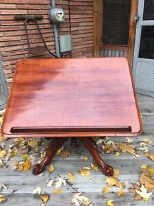 Antique 1877 Drawing Drafting Tilt Top Table - George Gates