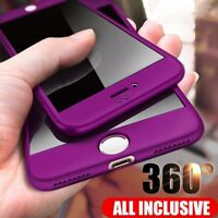 360 Full Cover Phone Case For iPhone 8 7 Plus 6 6s SE X 10 XR Xs Max With Glass