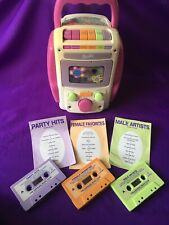 2001 Barbie Sing A Long Karaoke Cassette Tape Player With 3 Cassette Tapes