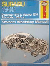 Subaru 1600 Workshop Repair Manual 1977 to 1979  with MPN HA237