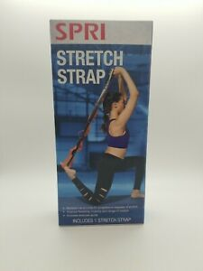 SPRI STRETCH STRAP and EXERCISE GUIDE-Targets arms, legs, back and more mobility