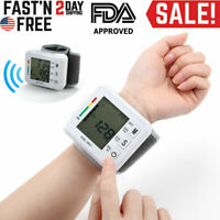 Automatic Wrist Blood Pressure Monitor BP Cuff Gauge Machine Tester for Parents