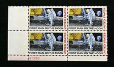 US Plate Blocks Stamps #C76 ~ 1969 MOON LANDING AIRMAIL 10c Plate Block MNH