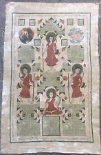 Large Antique Buddhist Temple Painting On Cloth Of Buddha. Northern Burmese Art