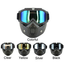 Safety Work Goggles with Detachable Face Shield Mask Eyewear Protective Glasses
