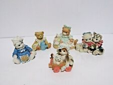 Lot Of Calico Kittens Vintage 1994 (Cat Figurine) Different Sizes