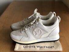 Authentic Louis Vuitton Run Away White Leather Logo Sneakers Size EU 38,5 US 8,5