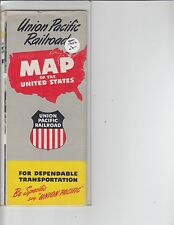 1952 Union Pacific Railroad Map of the United States