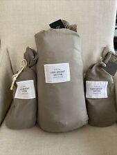 Restoration Hardware Lightweight Cotton Linen Duvet FullQueen and Shams NEW $279