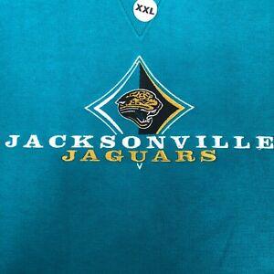 Vintage Jacksonville Jaguars Deadstock Sweatshirt Green XXL Crew Neck Football