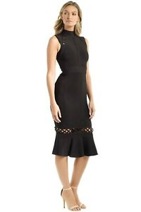 BLESSED ARE THE MEEK rose Black Halter Long Dress Xs 6